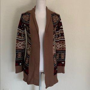 Charlotte Russe cardigan Aztec pattern